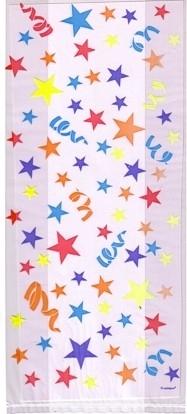 Cello bags/ cellofaanzakjes sterren (20st)