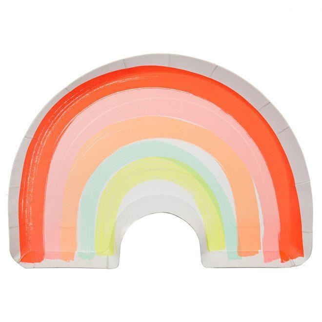 Regenboog borden Meri Meri (12st)