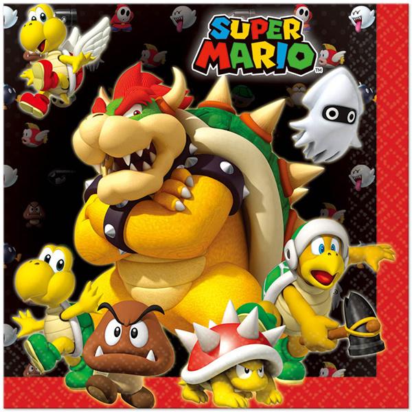 Super Mario feestartikelen - servetten (20st)
