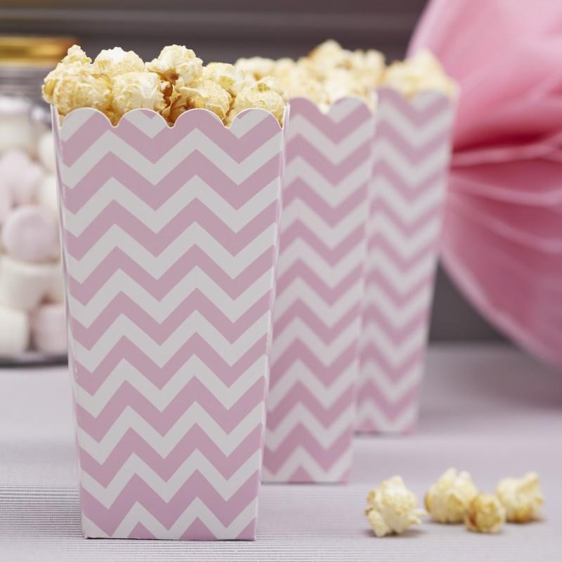 Chevron Divine feestartikelen - Popcorn bakjes (8st)