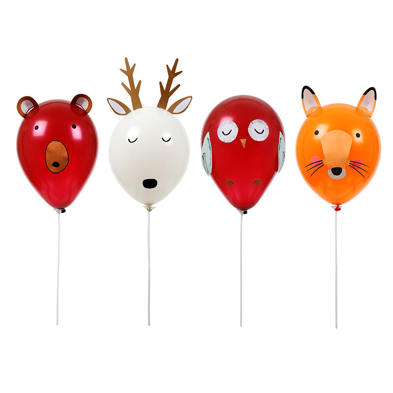 Let's Explore Forest Animals feestartikelen | Ballonnen Kit (16dlg)