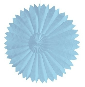 Honeycomb tissue fan pastel blauw