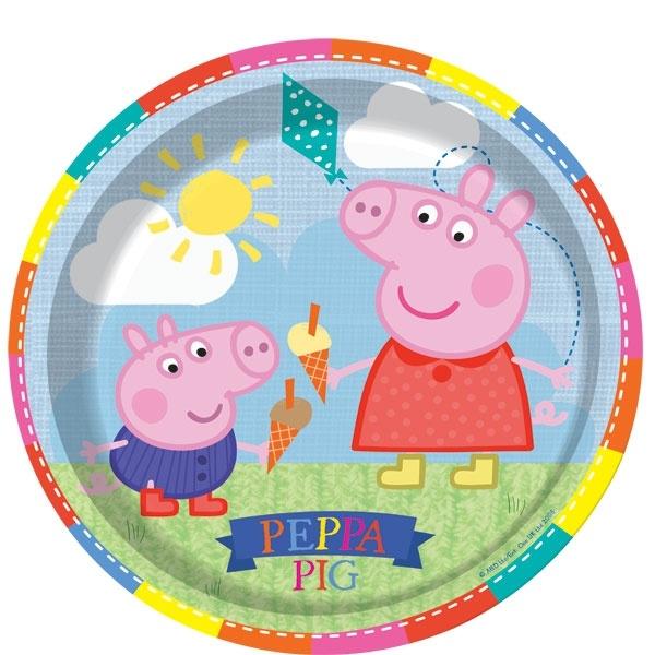 Peppa Pig feestartikelen borden (8st)