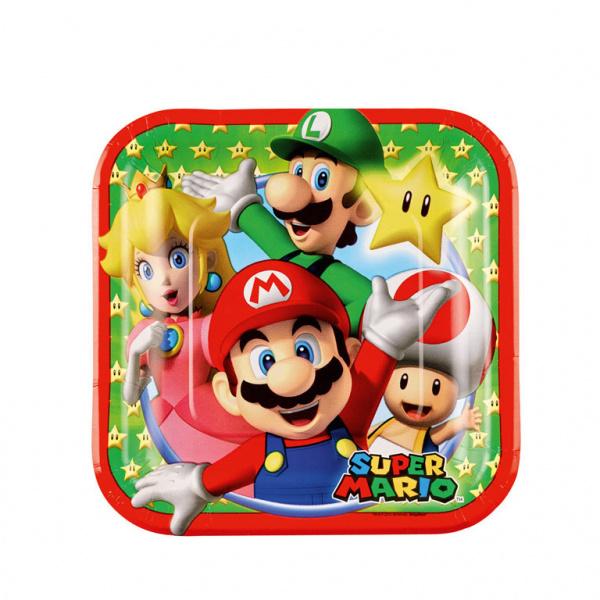 Super Mario feestartikelen - bordjes (8st)