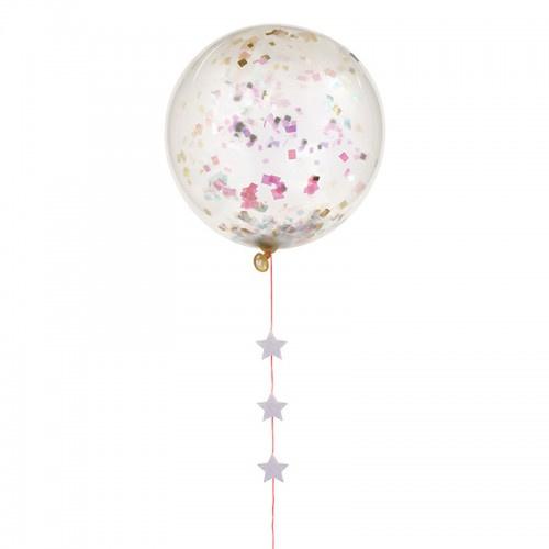 Meri Meri Iridescent Confetti Balloon Kit (8st)