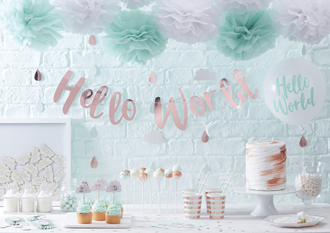 Hello-world-decoratie-feestartikelen