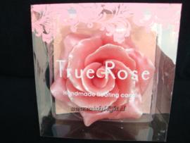 *BINNENKORT* Kaars Luxe handgemaakte Roos in 2 kleuren