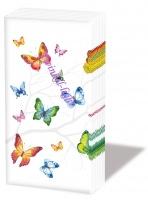 Papieren zakdoekjes Vlinders