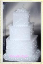Bruidstaart/Huwelijkstaart kaarsje de Luxe
