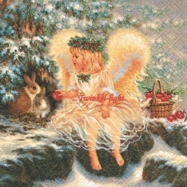 Servetten Engel nr. 2 met Konijntjes