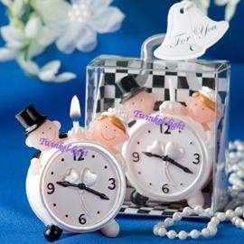 Mini kaarsje Bruidspaar met wekker