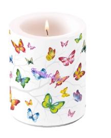 Kaars/Windlicht met Vlinders nr. 2