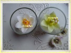 Kaars in glas met Orchidee