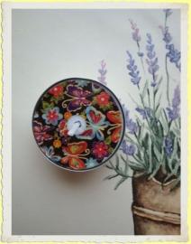 Theelicht/Waxinelicht Paisley Vlinders. Afbeelding blijft zichtbaar tot het einde!