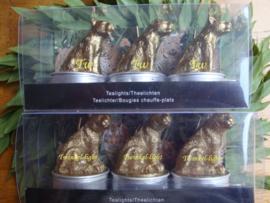 EXCLUSIEF Theelicht Tijger  en Luipaard