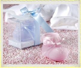 Mini Geboorte kaarsje Babysokje/schoentje
