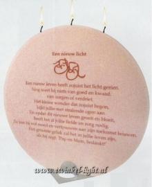 Geboorte kaars Roze