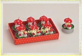 Theelicht/Waxinelicht Paddestoel