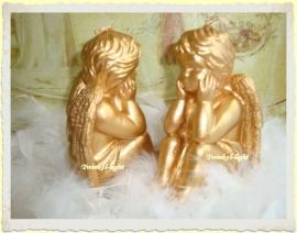 Kaars zittende Engel large
