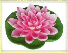 Grote drijfkaars Lotus op blad XL