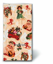 Papieren zakdoekjes Nostalgische Kerst
