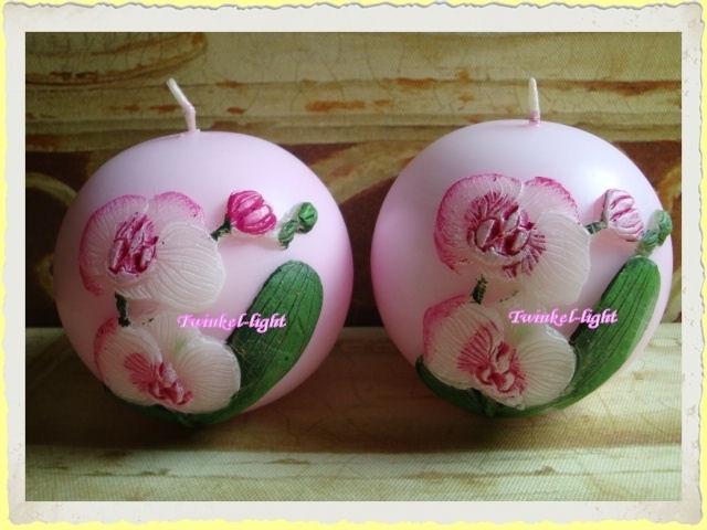 Kaars met Orchidee