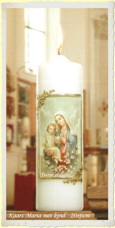 Kaars Maria/Engel met kind