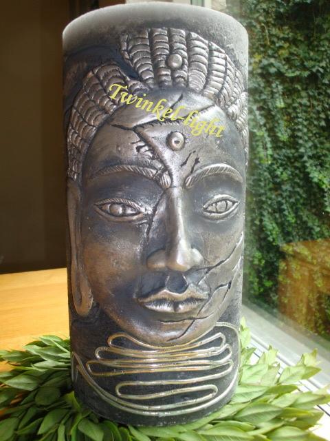 Exclusieve Handmade Boeddha kaars Rustiek XXL