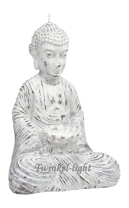 Boeddha kaars White wash