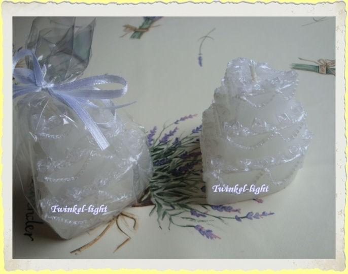 Bruidstaart/Huwelijkstaart kaarsje Hartvorm