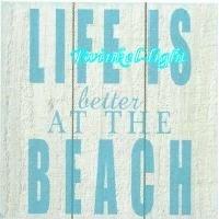 Servetten Life is better at the beach