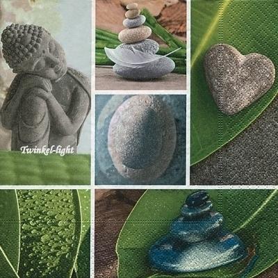 Servetten Boeddha nr. 5 Collage