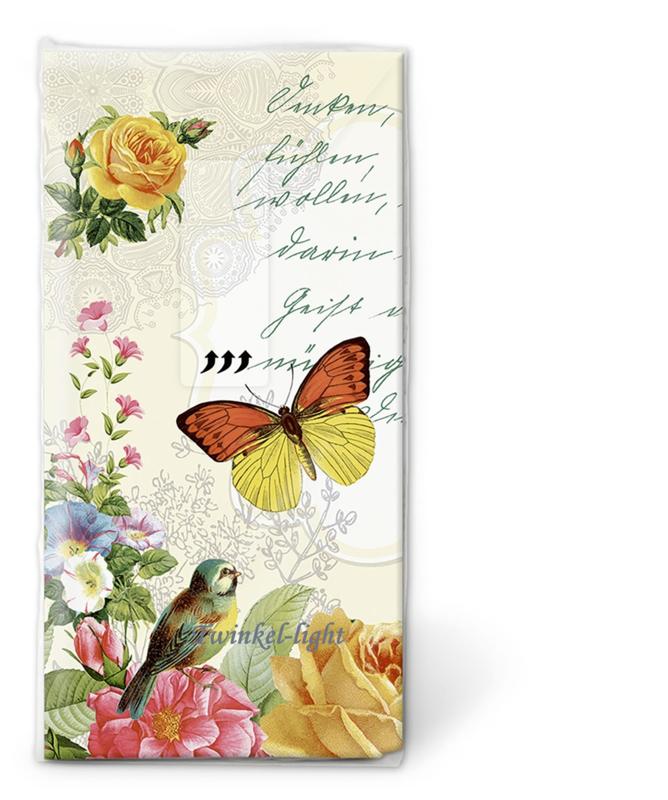 Papieren zakdoekjes Vintage Butterfly nr. 2