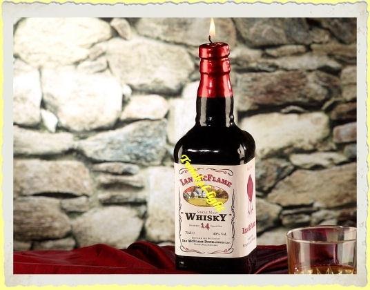 Kaars Fles Whisky