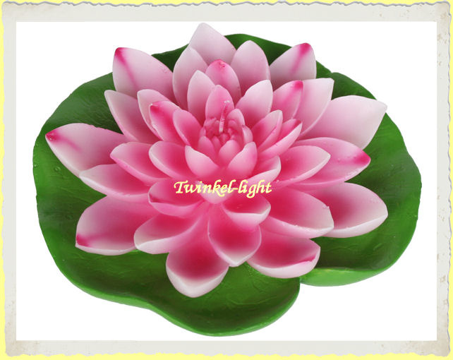 Grote drijfkaars Lotus op blad XL UITVERKOCHT!