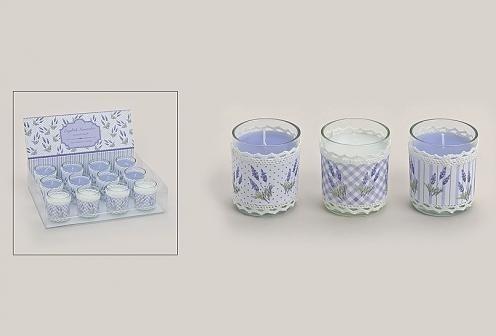 Geurkaarsje in glas Lavendel per set van 2 stuks te bestellen