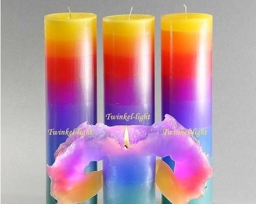 Krulkaars/Lotuskaars Rainbow