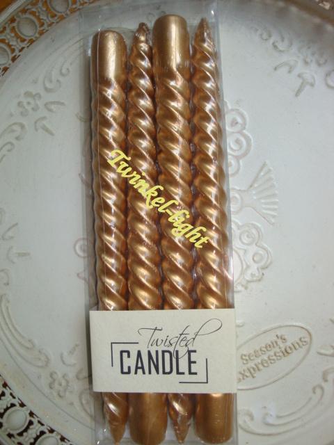 Luxe gedraaide kaarsen nr. 2a in 3 kleuren