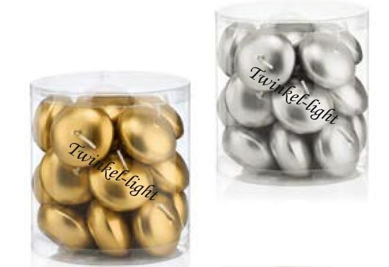 Silo luxe Drijfkaarsen goudkleur en zilverkleur