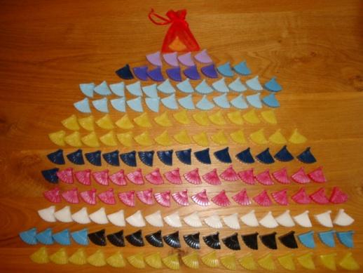 160 stuks Waaierzeepjes voor mevr. Dijkhof Spaans thema feest.jpg