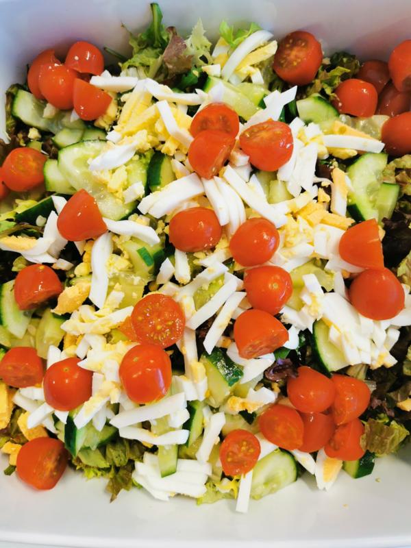 Grote gemengde salade