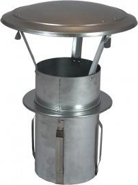 Gegalvaniseerde regenkap met insteekpijp 110mm