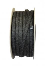 Glasvezelkoord 4 mm zwart (rol 50mtr) #TT41-300