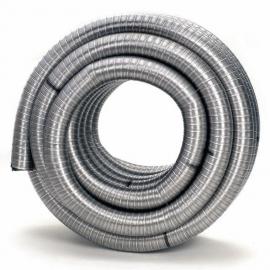 Flexibel Enkelgedraaid Ø150mm pijp 100cm #ABFE150100