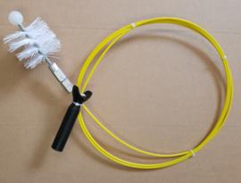 Veegset voor pelletkachels 3 mtr met nylon borstel 80mm