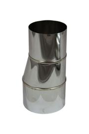 RVS Verloopstuk - excentrisch - vergrotend 99 mm - 150 mm #VLCE099150