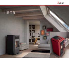 Royal Ilena pelletkachel  6 kW of  8 kW