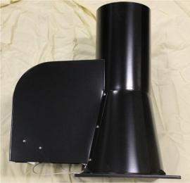 Rookgasventilator met vierkante basis Ø200mm dia (ZWART) WN-GCK200-CH-ML