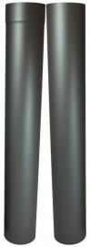 EW/Ø100mm Kachelpaspijp set 105-195 cm (zonder verjonging) Kleur: Antraciet DUN7000010