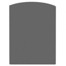 TO20-201 2mm Staalvloerplaat toog/ondiephalfrond - Antraciet 800 x 1000
